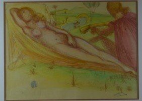 """Salvador Dali, """"Nude with Raised Arms"""", Lithograph"""
