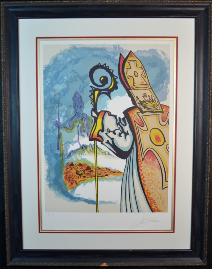 """Salvador Dali, """"King Richard"""", Lithograph"""