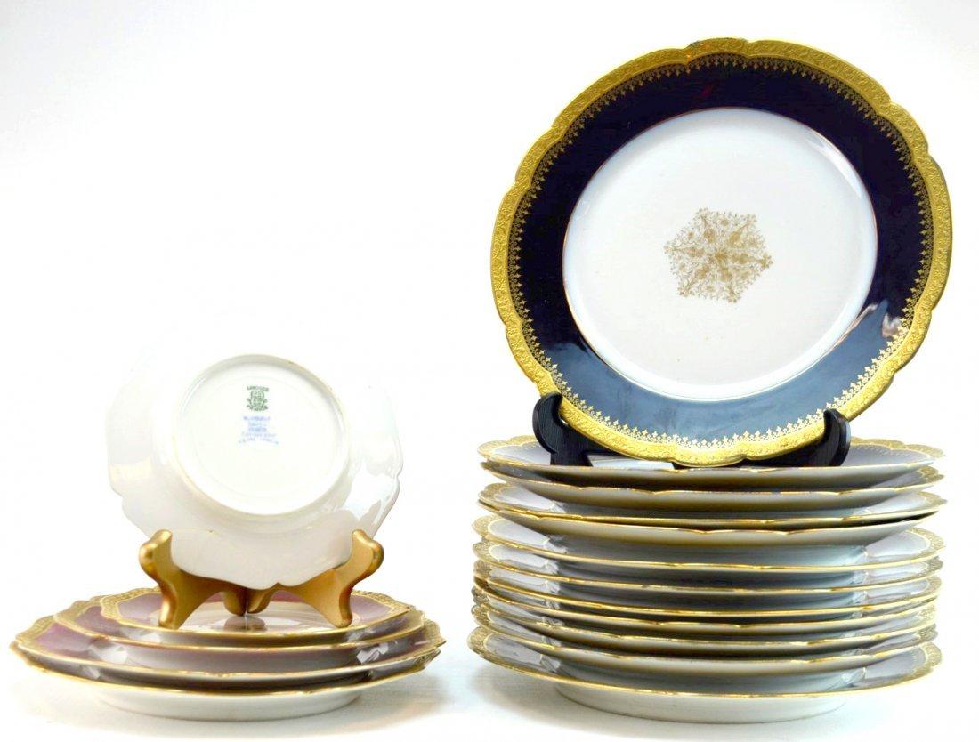 29-pc William Guerin & Co. Limoges Porcelain Plates