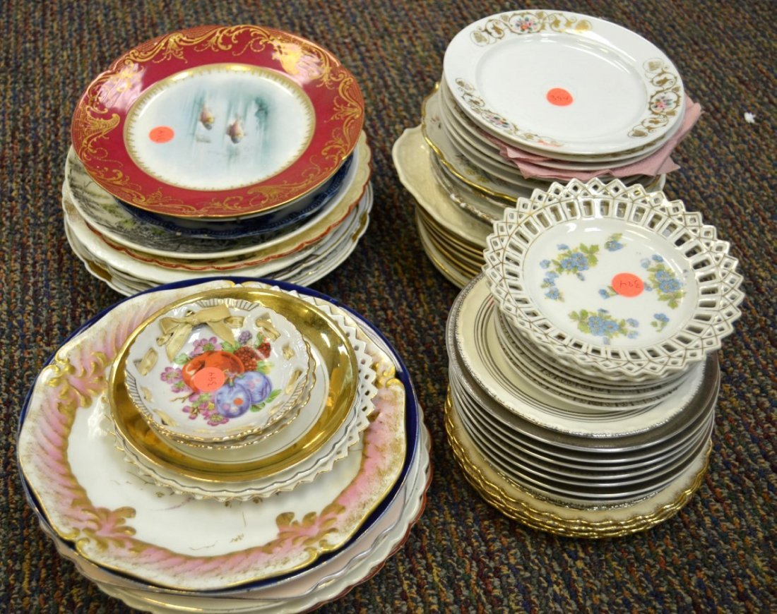 65 Pcs  Porcelain Plates incl. Theodore Haviland