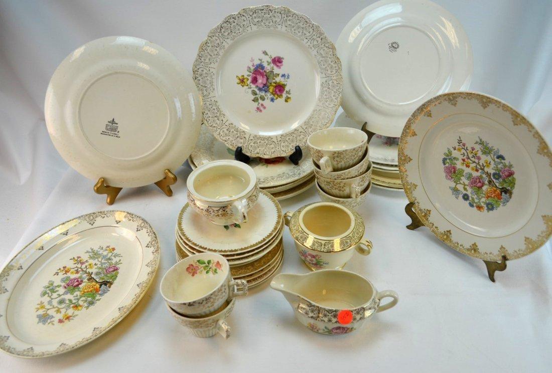 34-pcs Porcelain Rimmed in 22k Gold