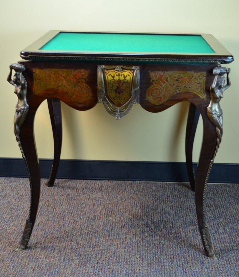 Antique Flip-Top Game Table
