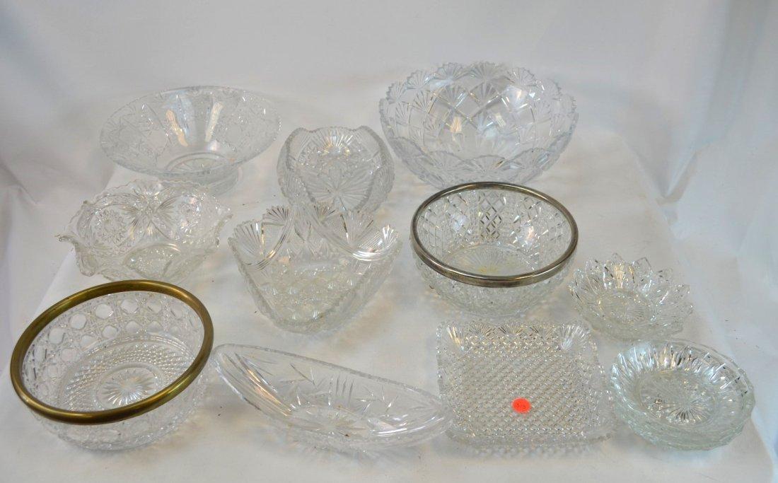 15 Cut Glass / Crystal Bowls