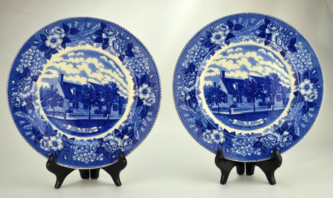 ADAMS OLD ENGLISH STAFFORDSHIRE WARE Two plates