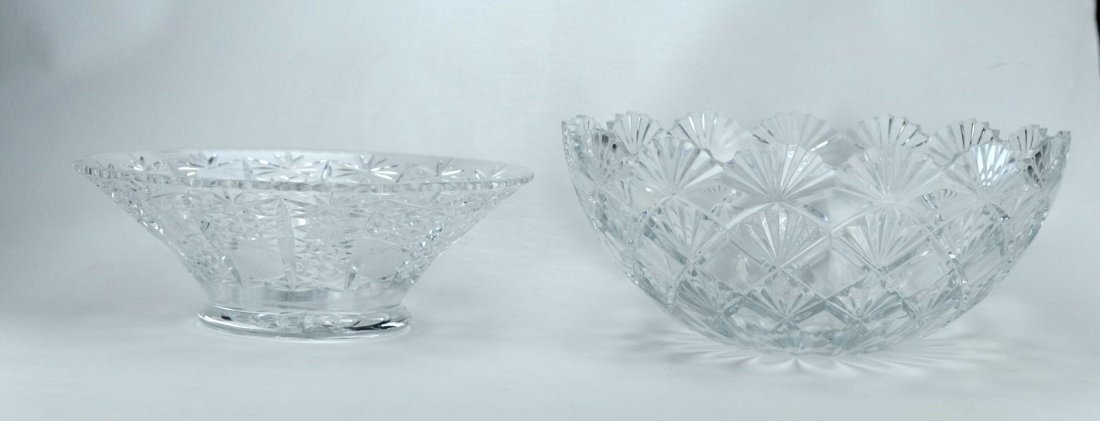 CRYSTAL Etc. Two flaring bowls