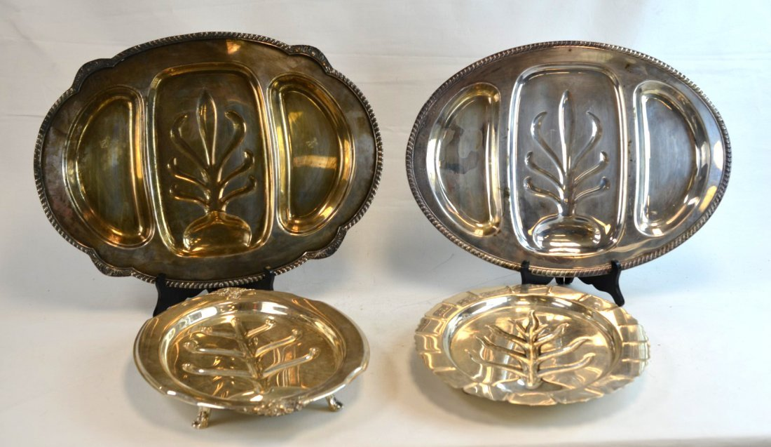 4 Silverplated Trays; International Silver