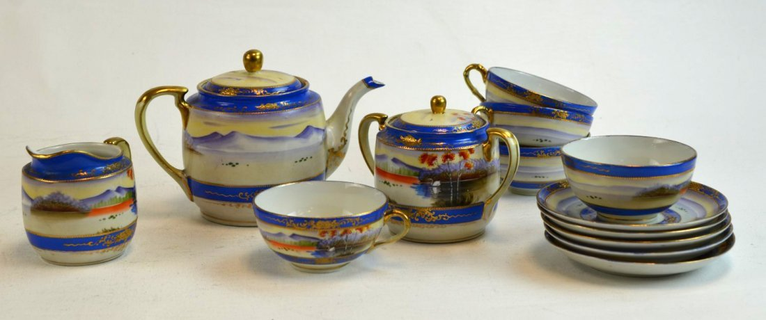 Japanese Porcelain Painted Teaset