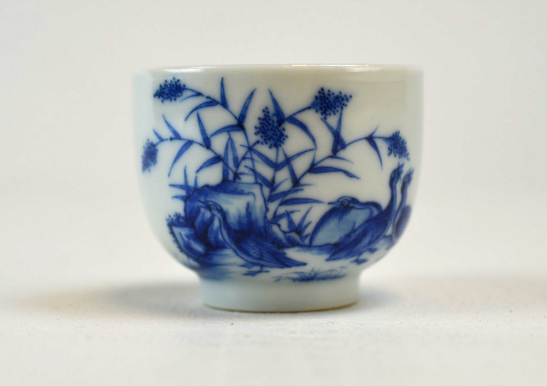 Chinese Porcelain Blue & White Teacup