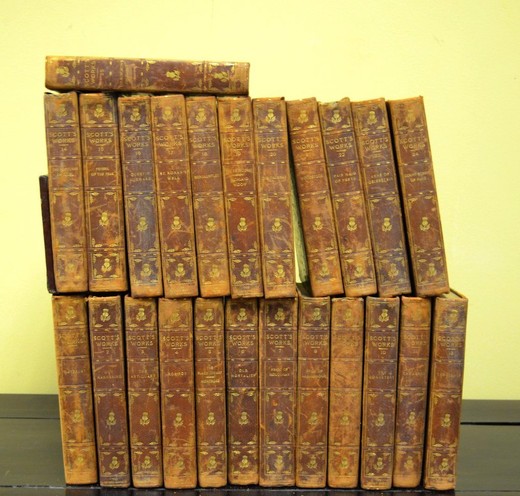 25-Volume Book Set,''The Works of Sir Walter Scott''