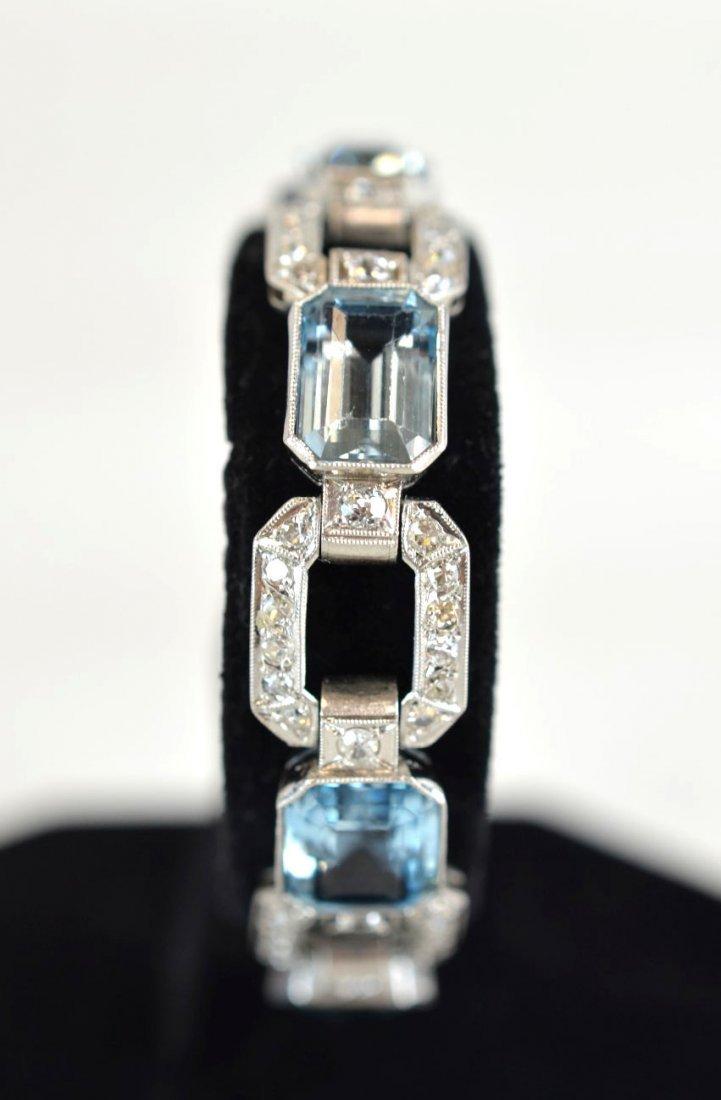 Beautiful Aquamarine and Diamond Bracelet