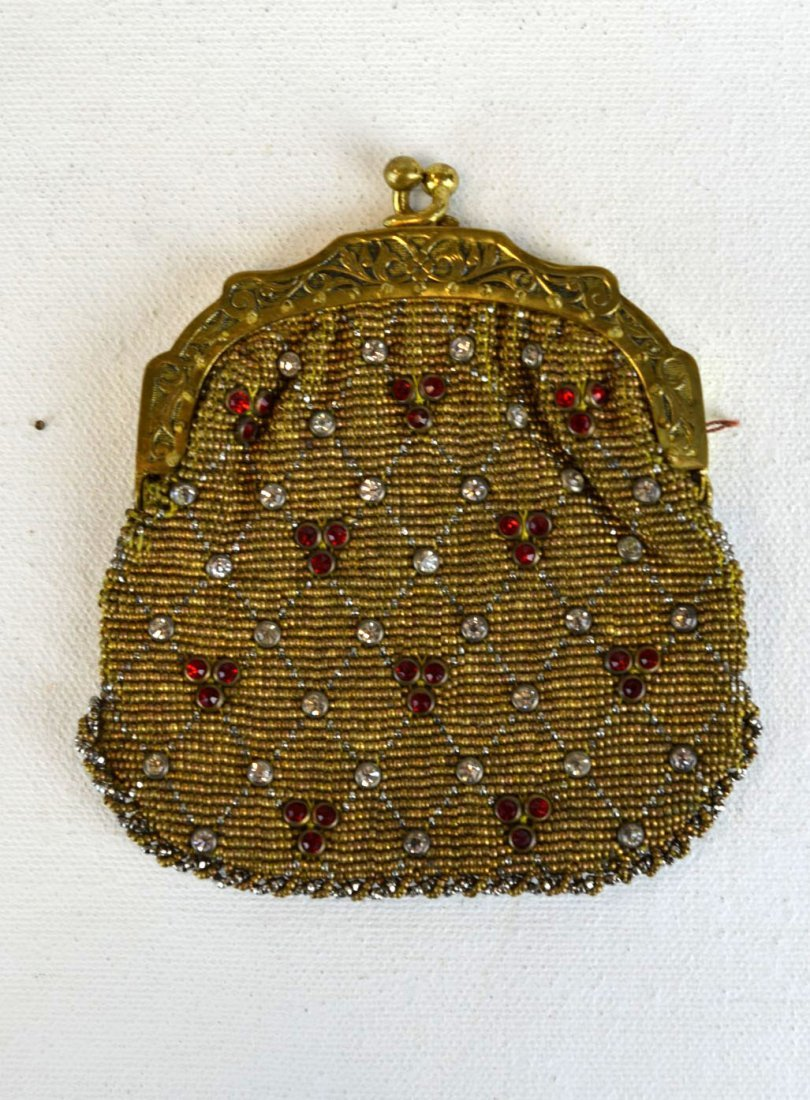 Vintage Jeweled Mesh Coin Purse