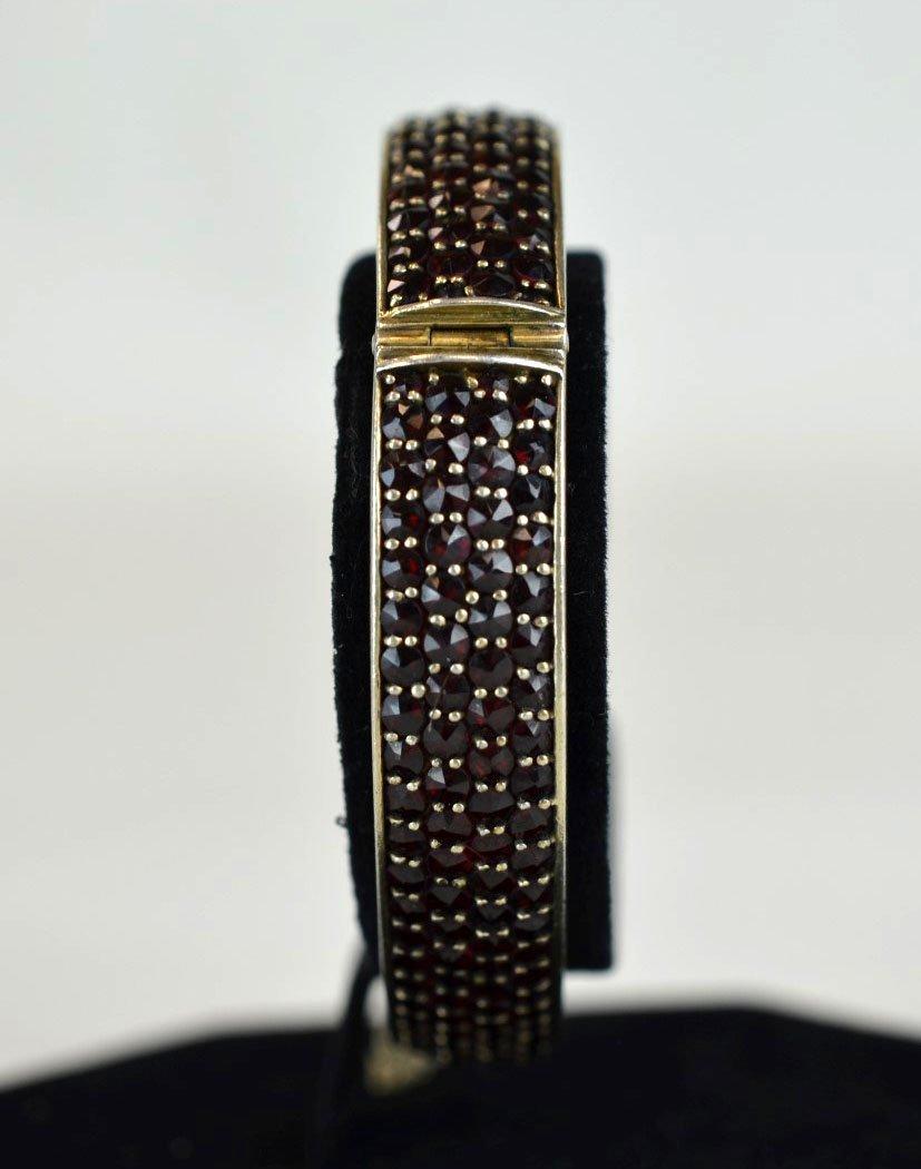 Silver & Gemstone Cuff Bracelet