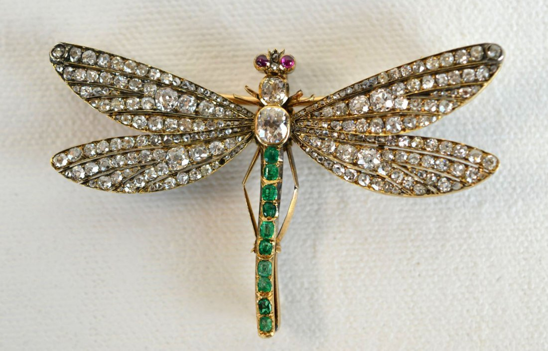 Fine and Rare Faberge Dragonfly Pin