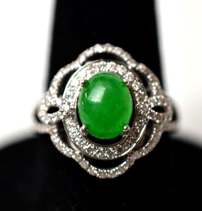 A Chinese Jadeite Diamond Ring