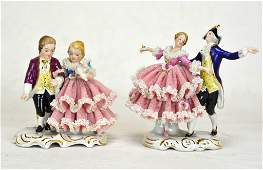Two German Porcelain Figures of Couples