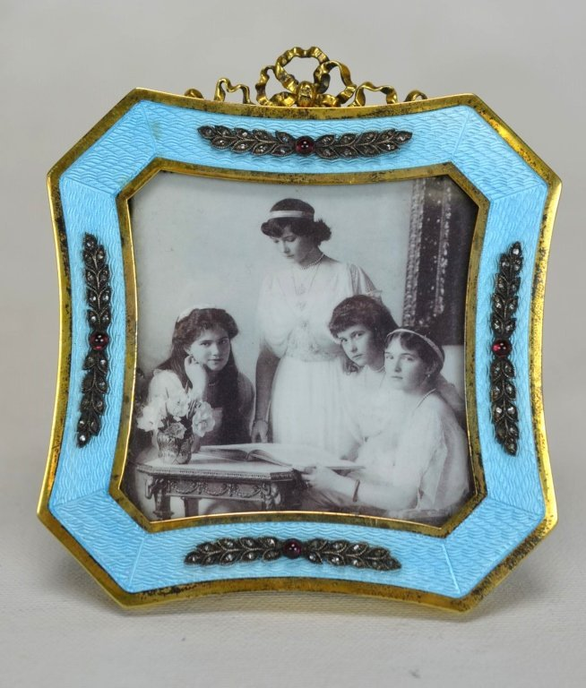 Victor Arrne Faberge Frame with Diamonds