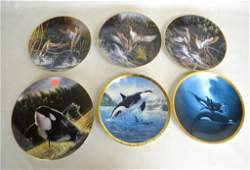 6 Pcs Porcelain Collector Plates Various Orcas