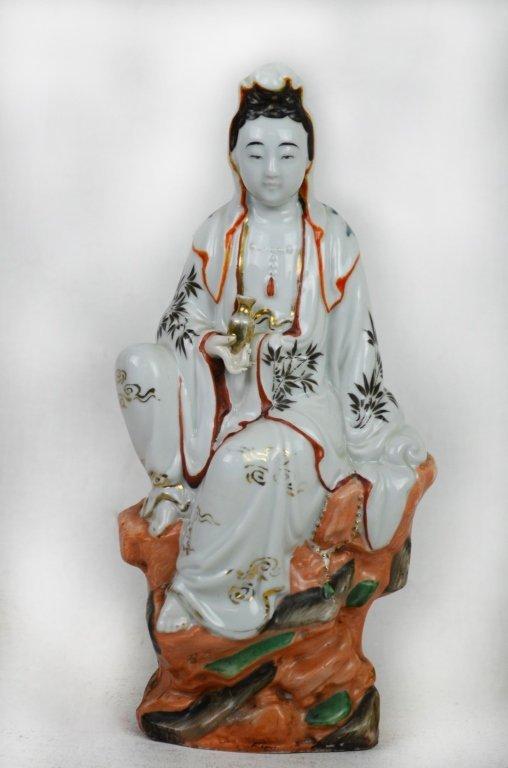 Chinese Seated Guan Yin  Statue