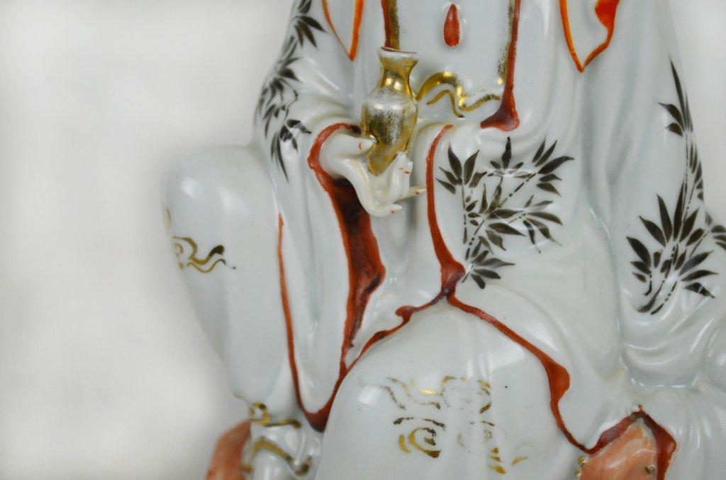 Chinese Seated Guan Yin  Statue - 3