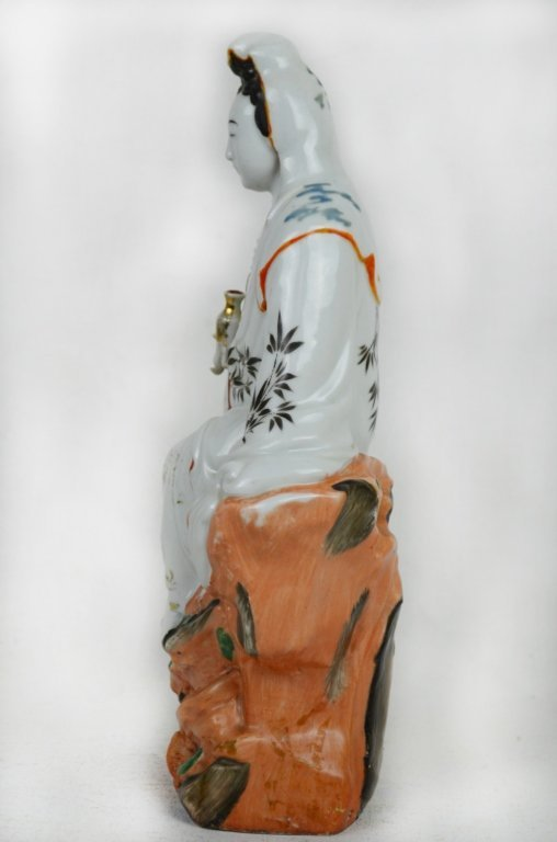 Chinese Seated Guan Yin  Statue - 5