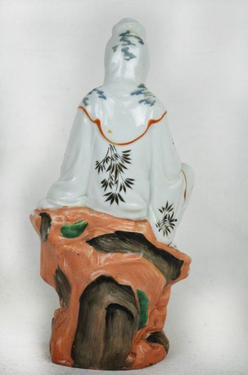 Chinese Seated Guan Yin  Statue - 6