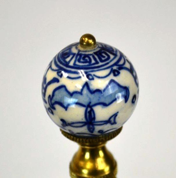 chinese blue white porcelain lamp base lot 76. Black Bedroom Furniture Sets. Home Design Ideas