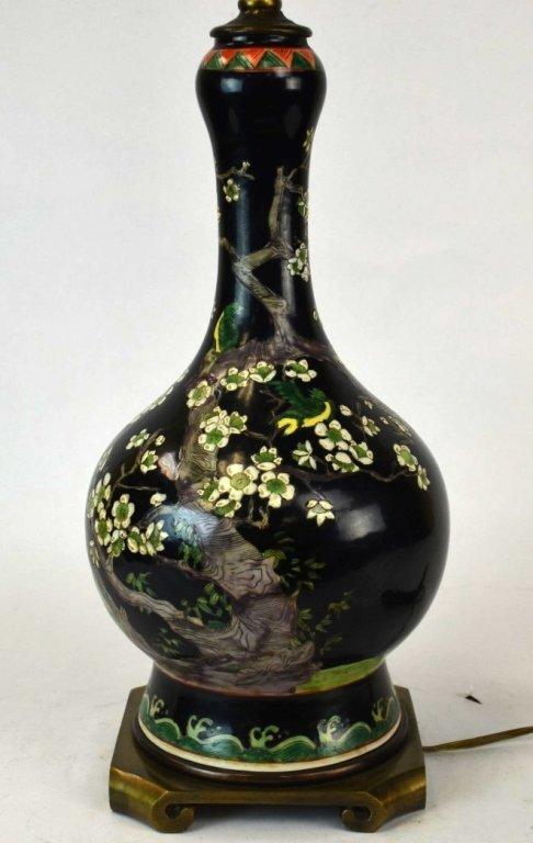 Chinese Painted Porcelain Bulbous Vase