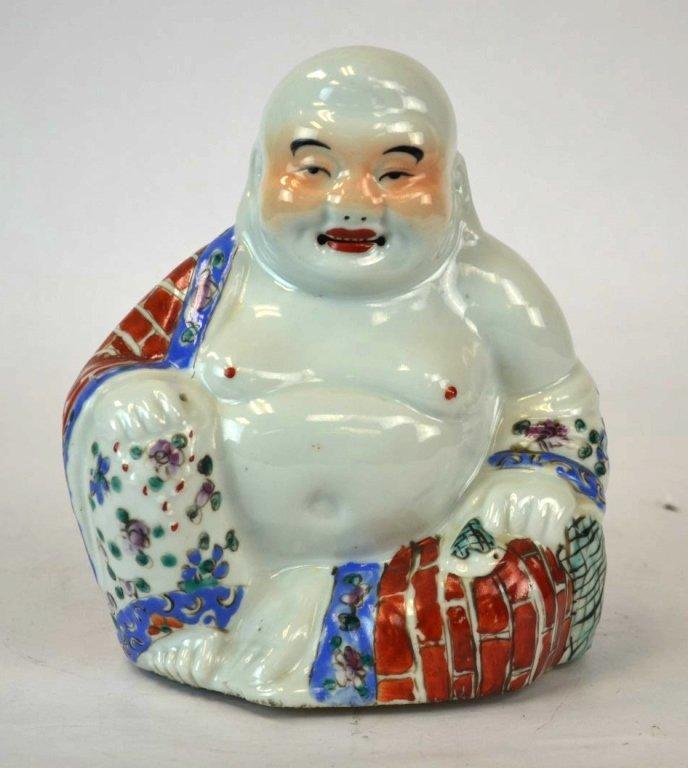Chinese Porcelain Happy Buddha Figure