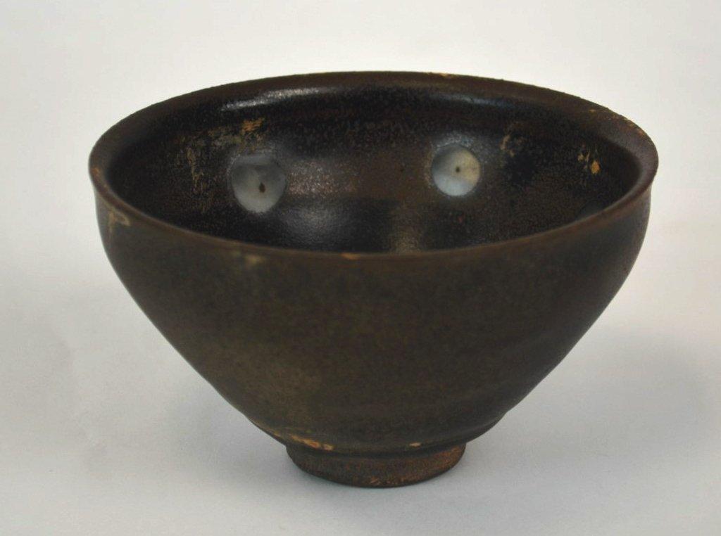 Chinese Jianyao Pearl Splashed Black Glazed Bowl