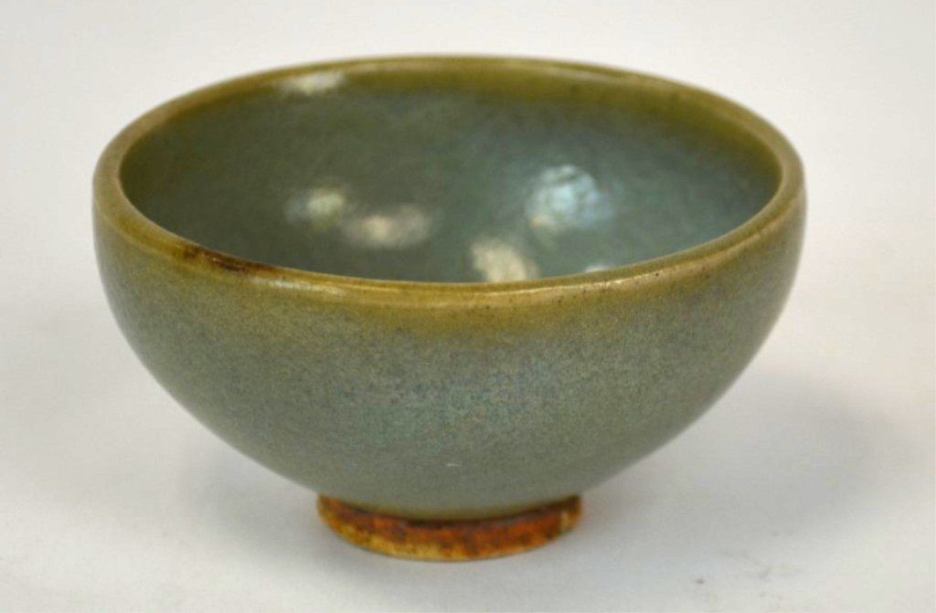 Small Chinese Moon Glazed Cup. Yuan Dynasty