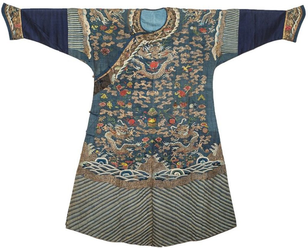 Qing Chinese Imperial Dragon KESI Embroidered Robe