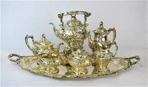 Gorham Sterling Silver 7 pc Tea and Coffee Set