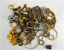 Large Assortment of Silver  Costume Jewelry
