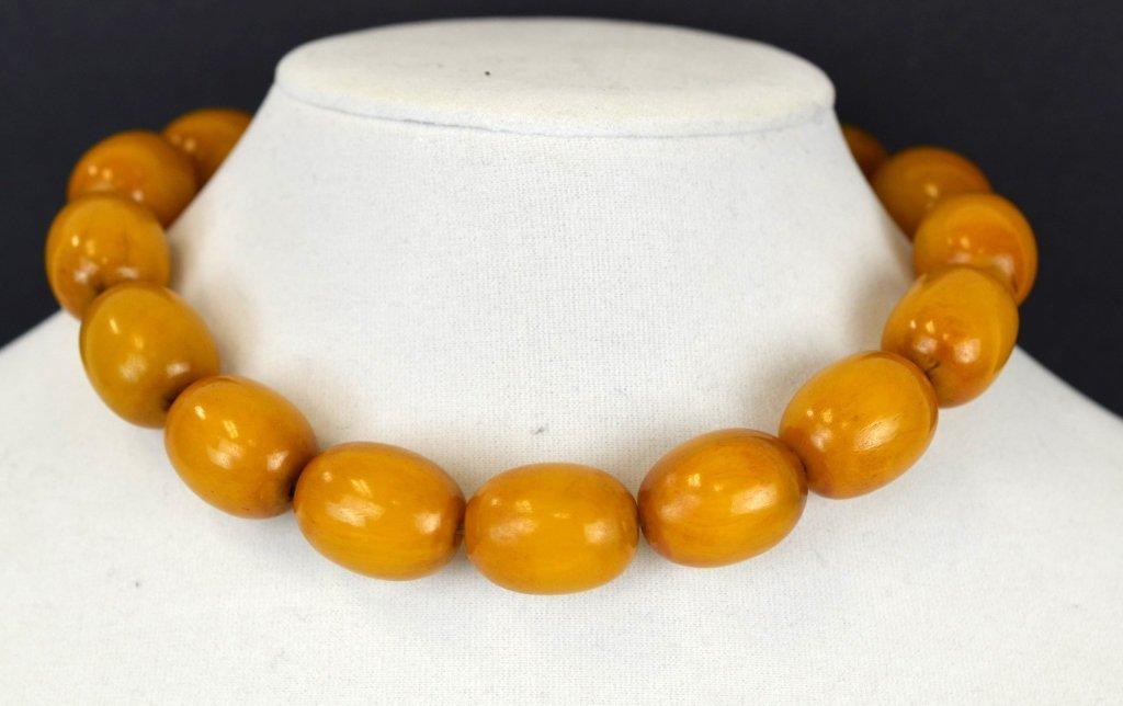 Large Chinese Butterscotch Amber Beads  100g