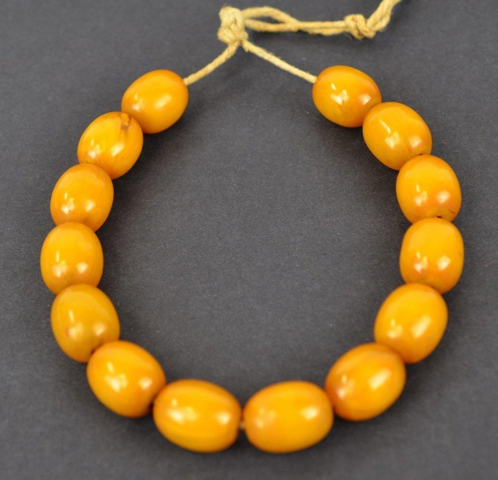 Large Chinese Butterscotch Amber Beads  100g - 2