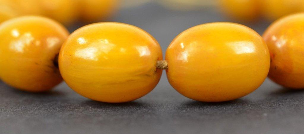 Large Chinese Butterscotch Amber Beads  100g - 3