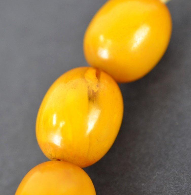 Large Chinese Butterscotch Amber Beads  100g - 5