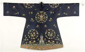Chinese Ladies Embroidered Robe, Qing Dynasty