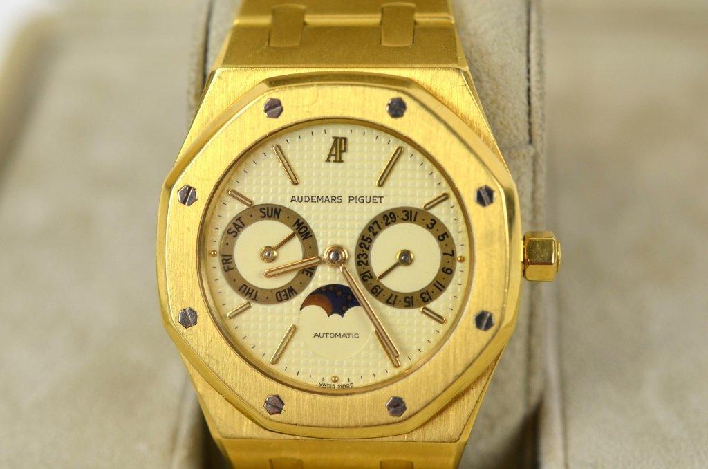 Audemars Piguet 18K Royal Oak Moon Phase Watch