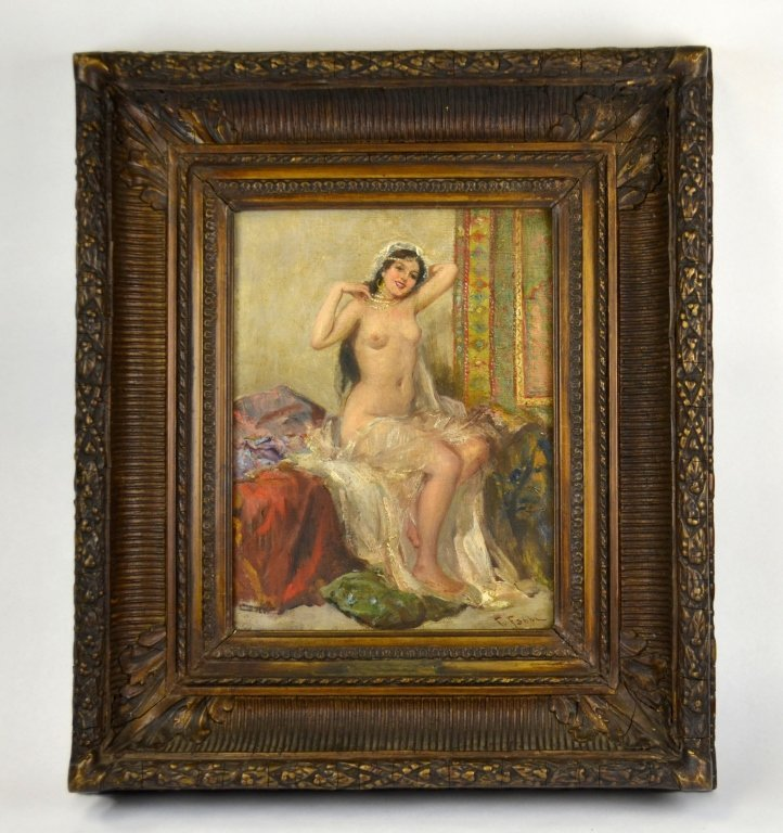 Rare Fabio Fabbi(1861-1946) Oil Painting