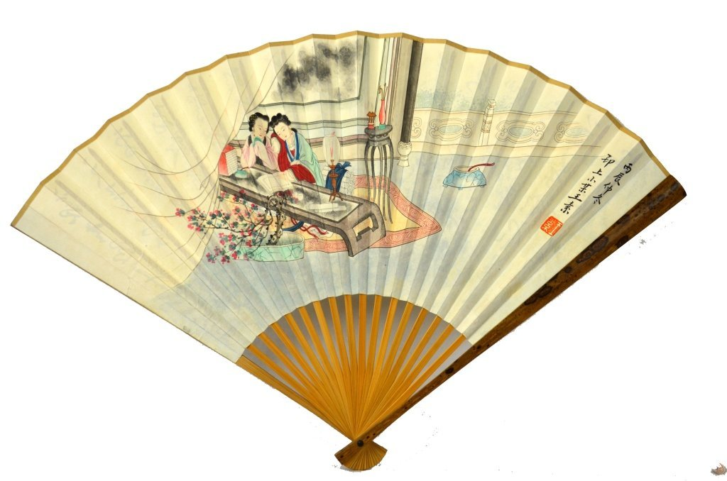 Chinese Painted Paper Fan