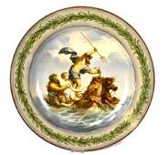 KPM Porcelain Charger with Mythological Scene