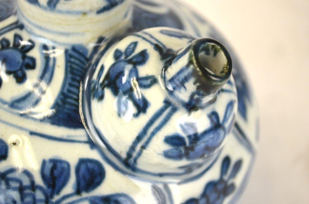 Ming Chinese Blue & White Kendi - 4