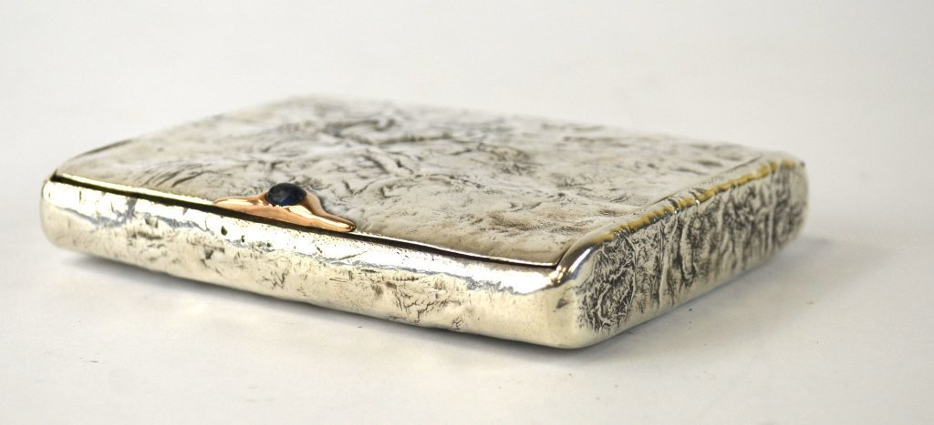 Russian Silver Box with Gold Inlaid - 2