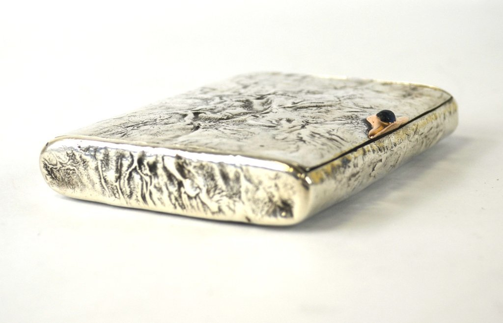 Russian Silver Box with Gold Inlaid - 7