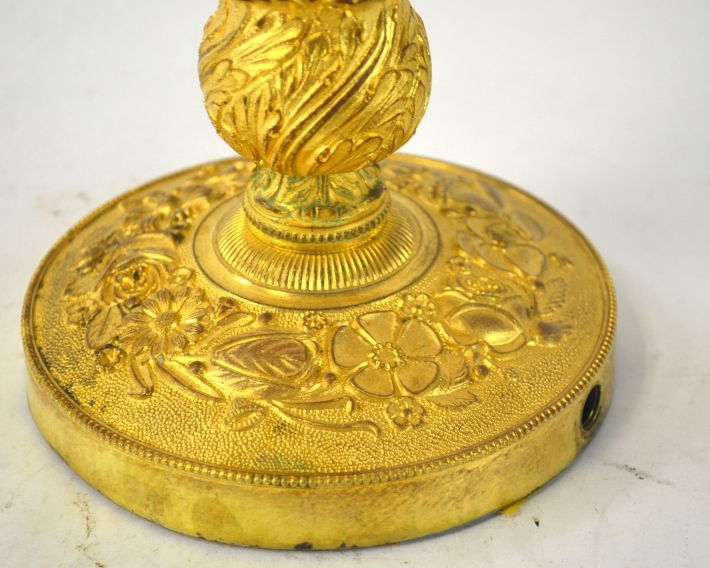 Pr  Empire Gilt Bronze Candelabras - 5