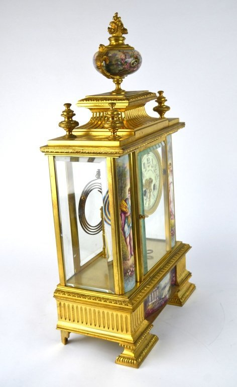 Bailey Banks & Biddle Co. Gilt Enamel Bronze Clock - 6