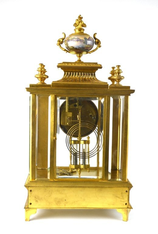Bailey Banks & Biddle Co. Gilt Enamel Bronze Clock - 7