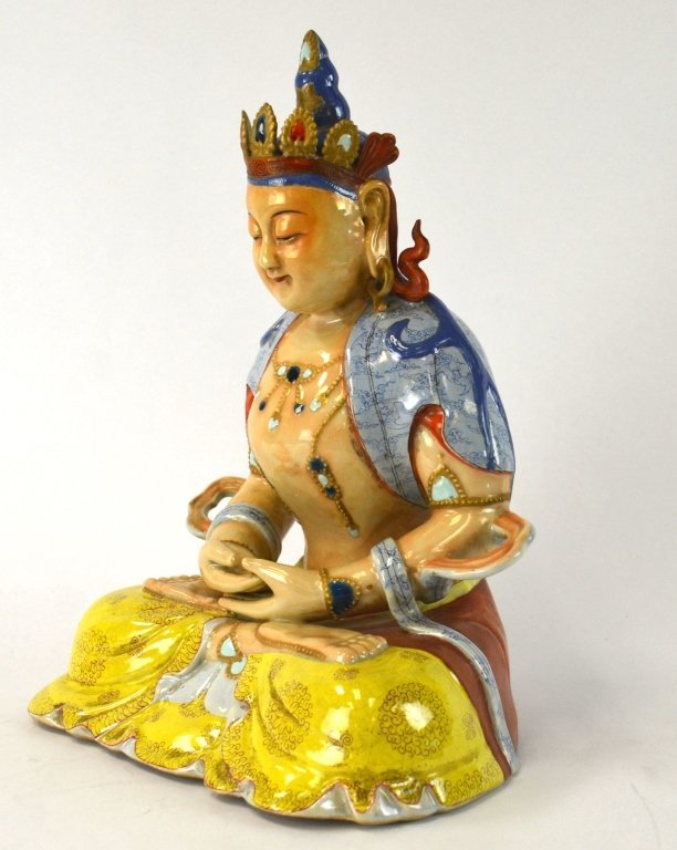 Rare Chinese Colorful Figure of Guanyin - 2
