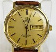 14K Gold Omega Mens Watch